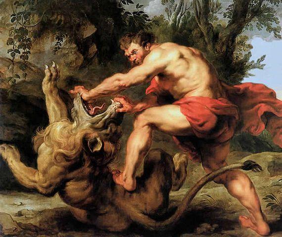 Samson et le lion - Pierre-Paul Rubens