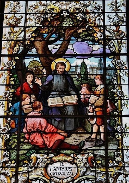 St Pierre Canisius catéchisant