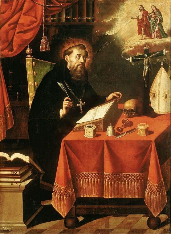 Antonio Rodríguez - Saint Augustin contemplant et écrivant