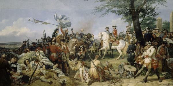 Horace Vernet - Louis XV à Fontenoy - château de Versailles