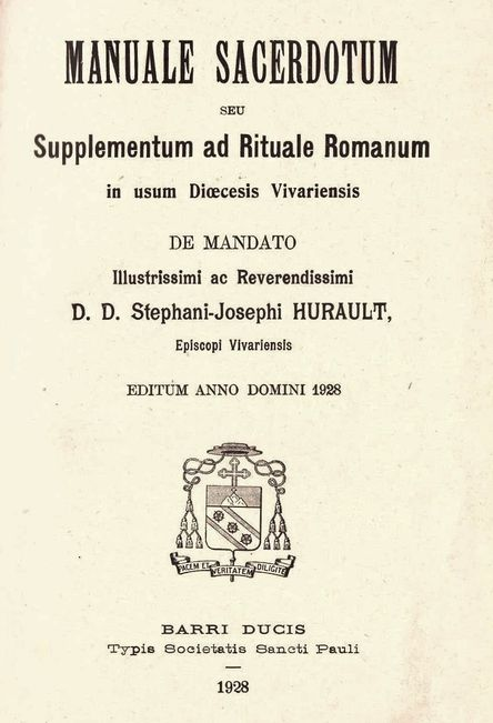 Manuale sacerdotum - Viviers 1928