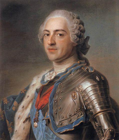 Maurice Quentin de La Tour - Louis XV en armure