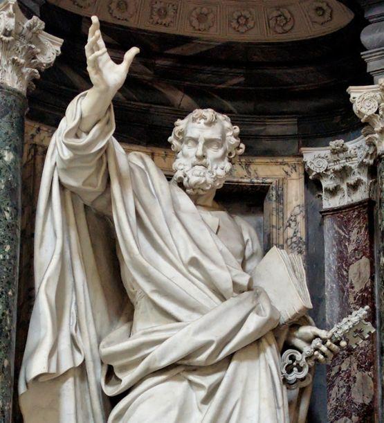 Pierre-Etienne Monnot - statue de Saint Pierre - basilique du Latran
