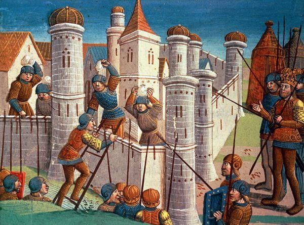 Siège d'une ville au Moyen-Age
