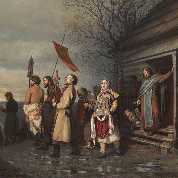 Vassili Grigoriévitch Perov - procession villageoise le jour de Pâques 1861