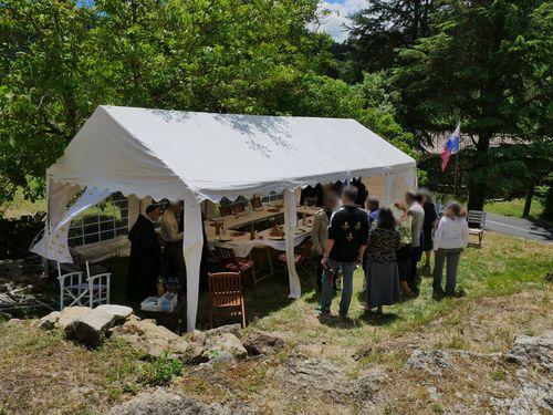 La tente de réception le samedi 6 juin 2020