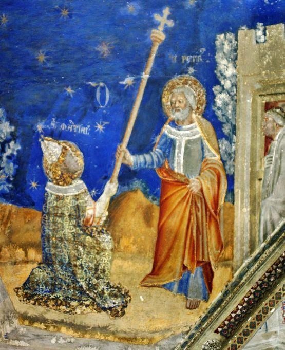 Saint Pierre remet son bâton à Saint Martial - palais des Papes Avignon