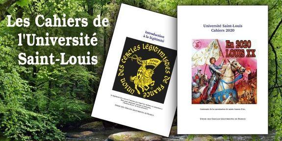 Cahiers de l'université d'été Saint-Louis