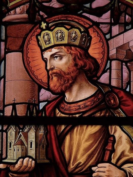 St Henri - détail d'un vitrail de l'église Sainte Marie-Madeleine - Gennevilliers