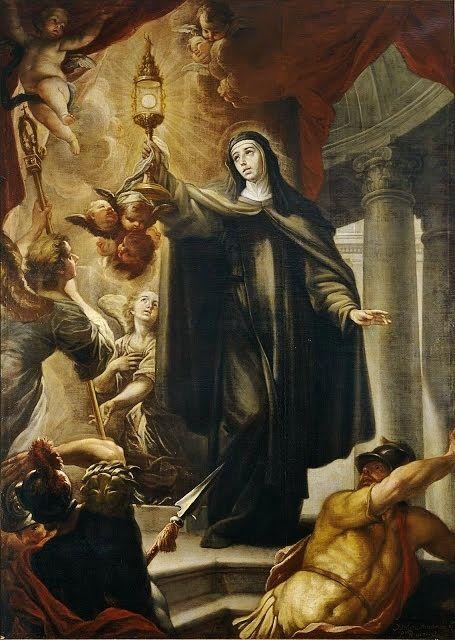 Isidore Arredondo - Sainte Claire met en fuite les sarrasins - 1693 Musée du Prado Madrid