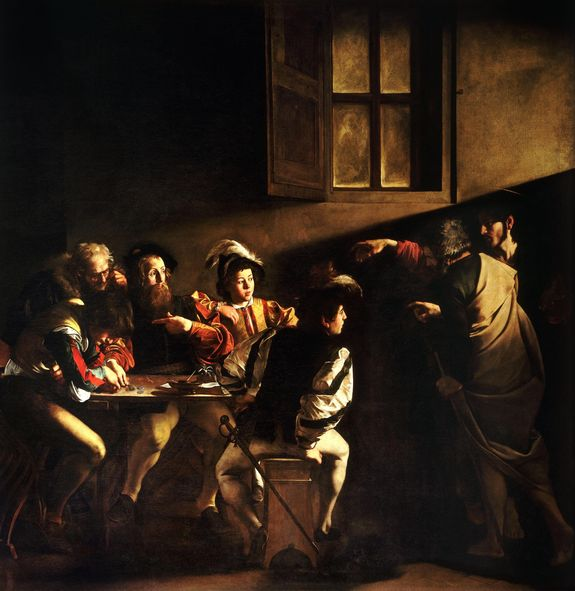 La vocation de Saint Matthieu - Le Caravage - église Saint-Louis des Français à Rome