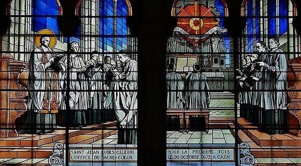 Saint Jean Eudes - vitrail basilique Sacré-Cœur Marseille