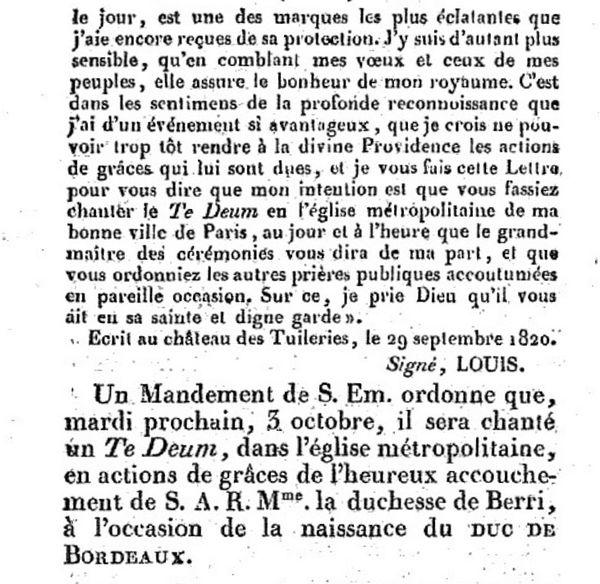 Ami de la Religion et du Roi 30 septembre 1820 - 3