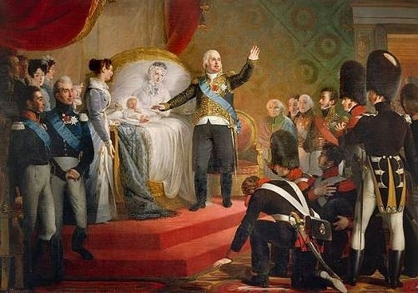 Claude-Marie Dubufe - Naissance du duc de Bordeaux