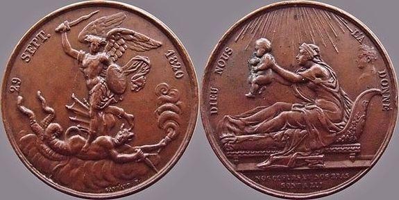 Médaille commémorative de la naissance du duc de Bordeaux