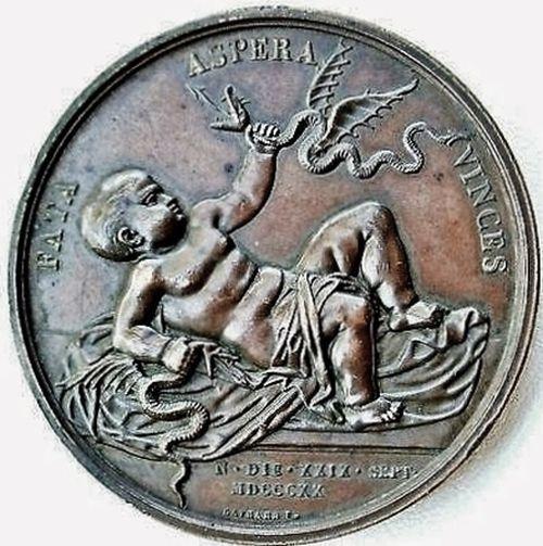 Médaille pour la naissance du duc de Bordeaux