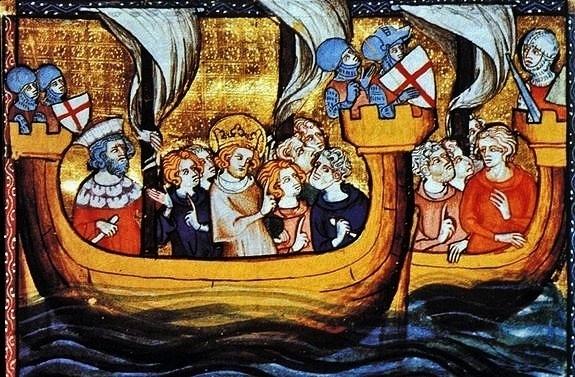 St Louis partant pour la Croisade