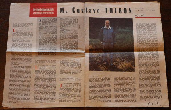 Entretien avec Gustave Thibon - sept 1962