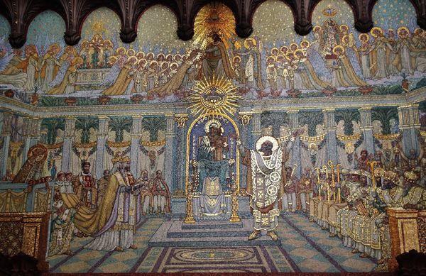 Fourvière - mosaïque du concile d'Ephèse