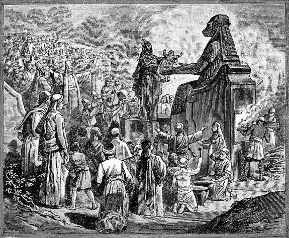 Sacrifice d'enfant à Moloch