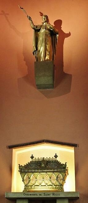 Basilique de La Louvesc - reliquaire et statue état actuel