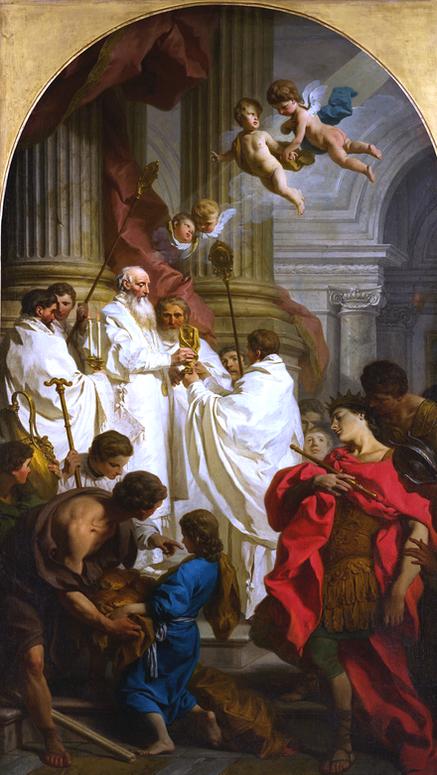 Saint Basile le Grand célébrant la divine liturgie - Pierre Subleyras