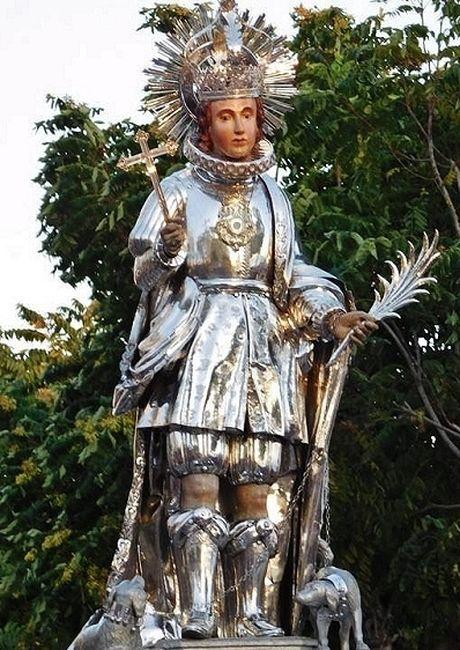 Statue de Saint Guy portée en procession à Mazara