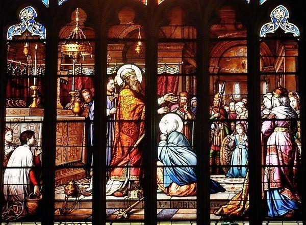 Saint Médard consacrant Sainte Radegonde à Dieu