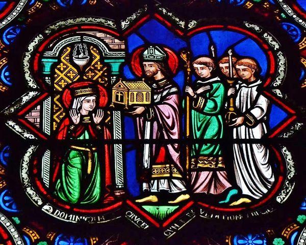 Sainte Radegonde reçoit la relique de la Sainte Croix à Poitiers