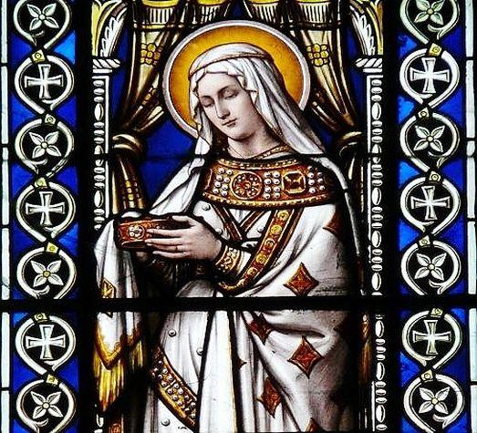 Sainte Radegonde - vitrail de la basilique St-Martin de Tours détail