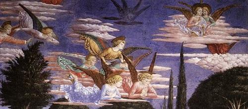 Benozzo Gozzoli - adoration des anges - Chapelle du Palais Medici Riccardi à Florence