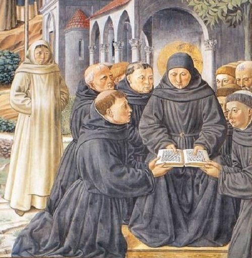 Benozzo Gozzoli - Saint Augustin étudiant avec ses disciples