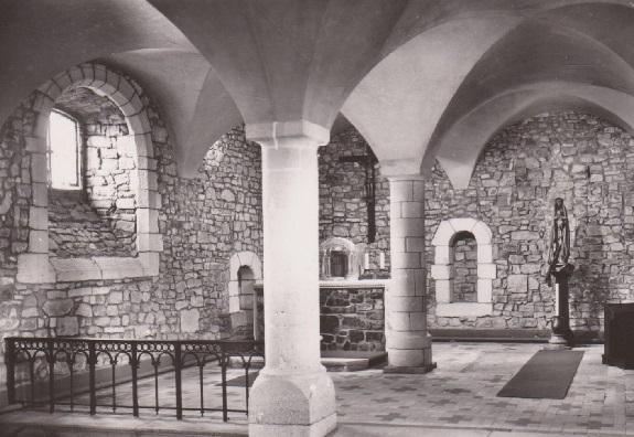 ancien réfectoire de l'abbaye de Blanchelande, transformé en chapelle au XIXe siècle